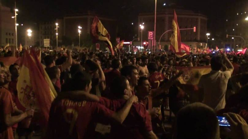 Espanya campiona del món - celebració