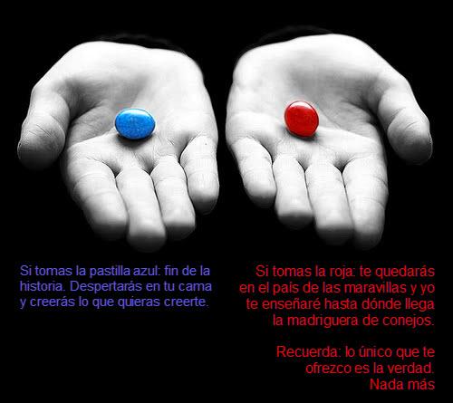 Matrix pastilla roja o azul