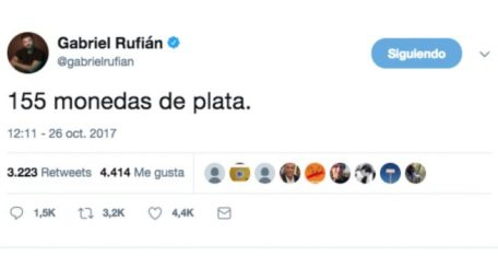 Twitter Gabriel Rufián 26-O