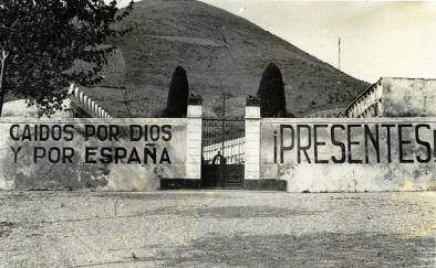 Tàpia del cementiri de Montcada, on van ser afusellats molts catalans pel bàndol republicà.