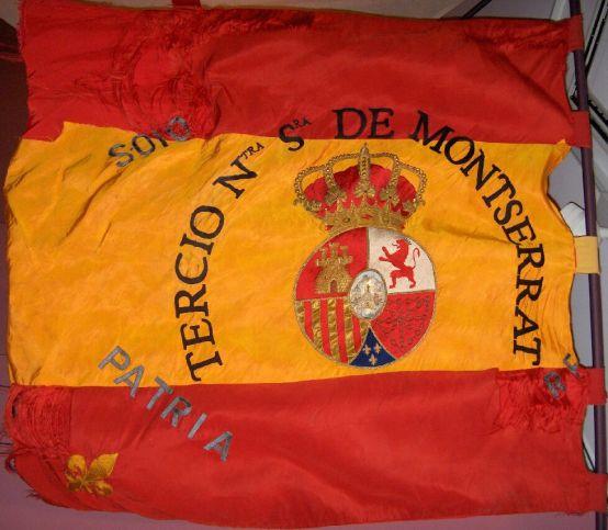 Bandera Terç de Requetés de Nostra Senyora de Montserrat