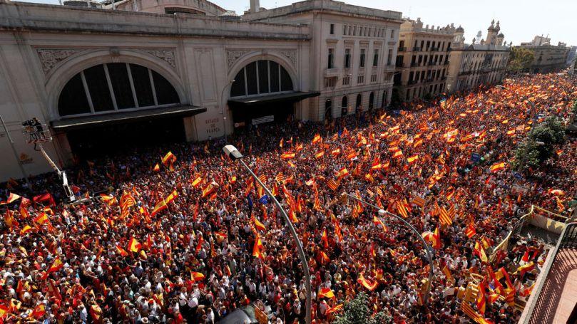 Manifestació Barcelona 8-O