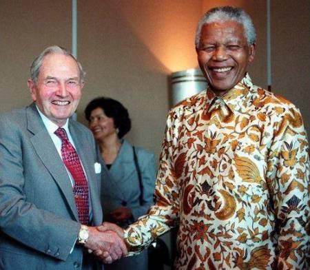 Mandela amb David Rockefeller.