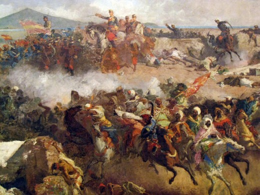 Voluntaris Catalans - Batalla de Tetuán - Mariano Fortuny - detall central