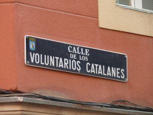 Voluntaris catalans carrer Madrid