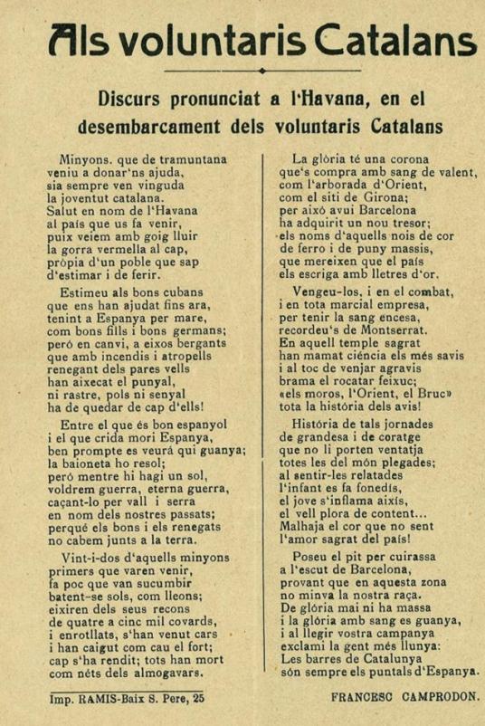 Als voluntaris catalans - Francesc Camprodon