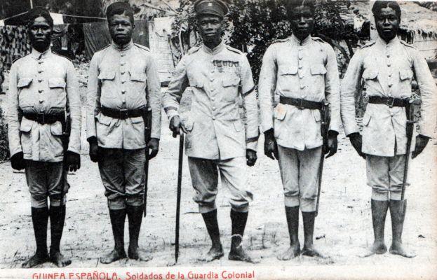 Soldados Guardia Colonial - Guinea Española
