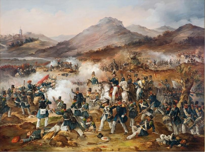 Batalla de la Primera Guerra Carlista - Francisco de Paula Van Halen