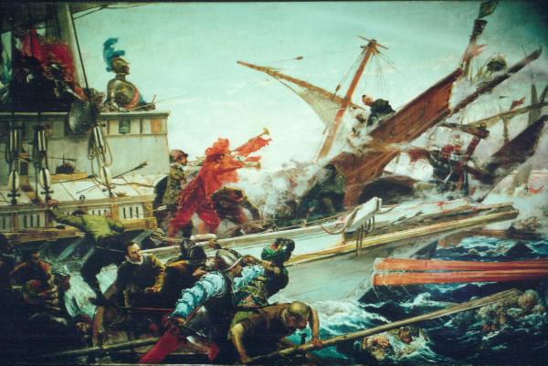 Combate naval de Lepanto 7 de Octubre de 1571 - Juan Luna y Novicio - 1887