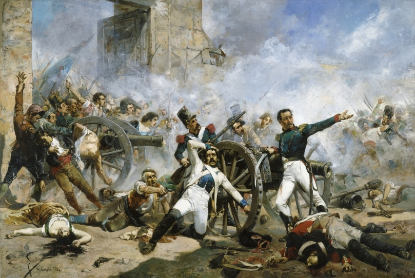 Defensa del parque de artillería de Monteleón - Joaquín Sorolla - 1884
