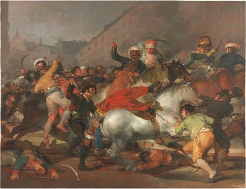 El 2 de mayo de 1808 en Madrid o ''La lucha con los mamelucos'' - Francisco de Goya y Lucientes - 1814