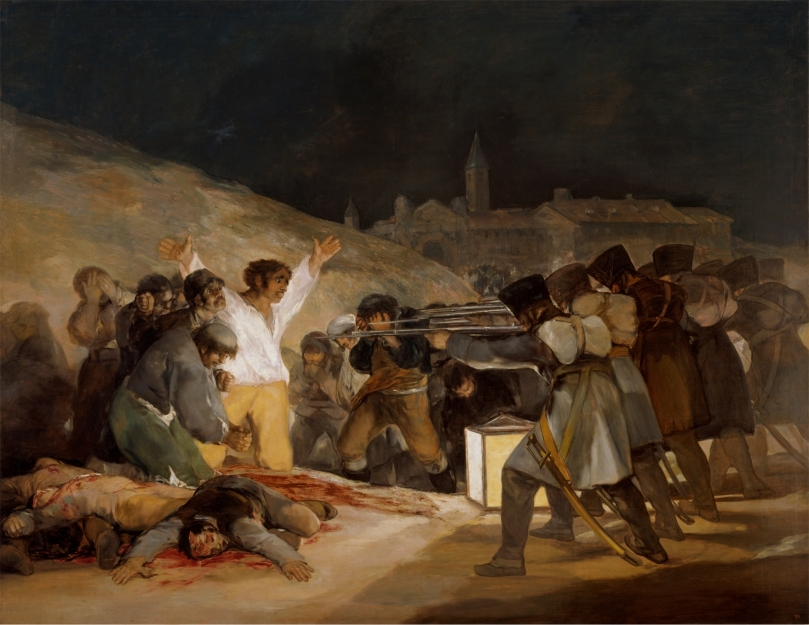 El 3 de mayo en Madrid o ''Los fusilamientos'' - Francisco de Goye y Lucientes - 1814