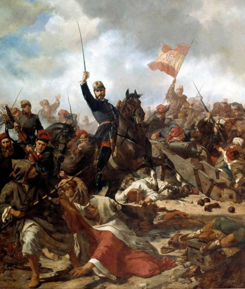El general Prim en la batalla de Tetuán - Francisco Sans Cabot
