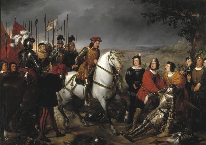 El Gran Capitán, recorriendo el campo de la batalla de Ceriñola - Federico de Madrazo y Kuntz - 1835