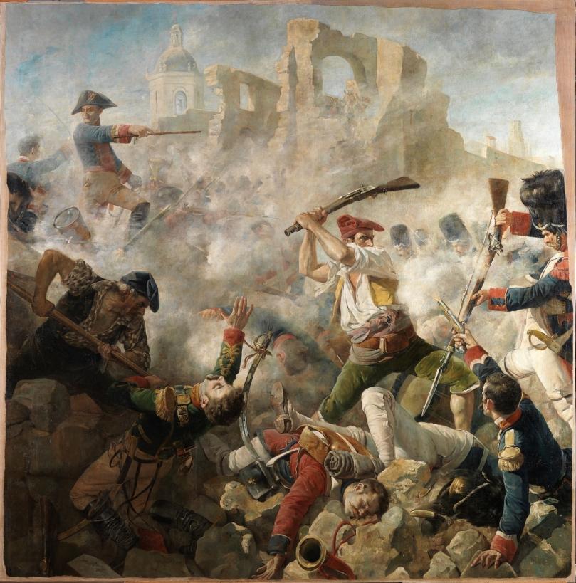 El gran día de Gerona (19 septiembre de 1809) - César Álvarez Dumont - 1890