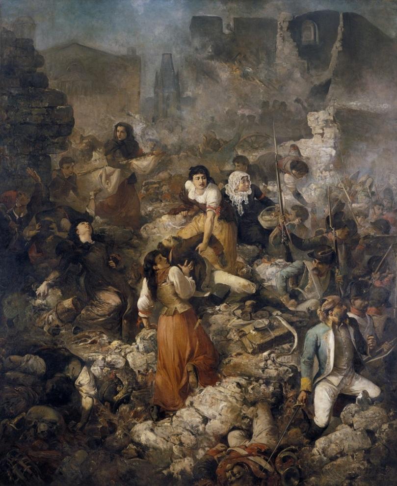 La compañía de Santa Bárbara. Sitio de Gerona - Ramon Martí i Alsina