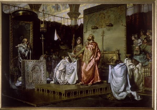 La conversión de Recaredo - Antonio Muñoz Degrain - 1888
