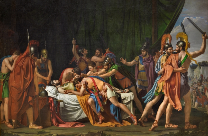 La muerte de Viriato, jefe de los lusitanos - José de Madrazo y Agudo - 1807