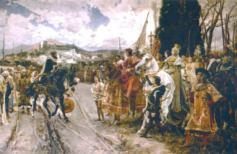 La rendición de Granada - Francisco de Pradilla Ortiz - 1882