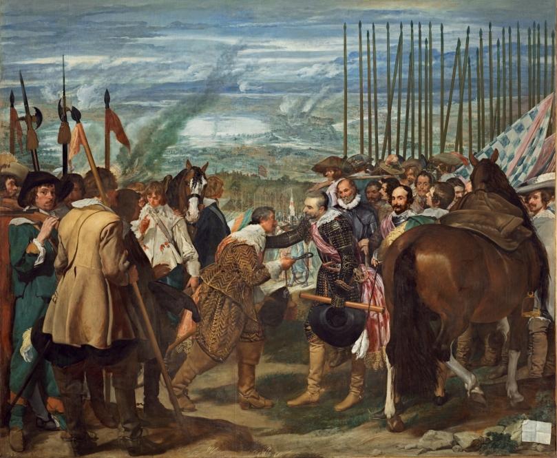 Las lanzas o La rendición de Breda - Diego Rodríguez de Silva y Velázquez - 1635