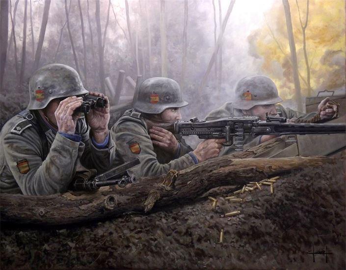 Ferre Clauzel - División Azul. Fuego desde la trinchera