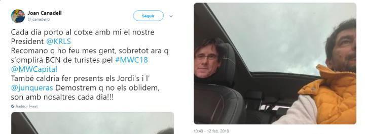 Friki procés Joan Canadell careta Puigdemont