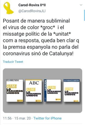Twitter Carod coronavirus