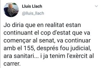 Twitter Llach coronavirus