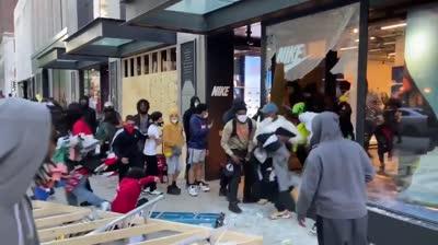 Saqueo tienda Nike disturbios EEUU